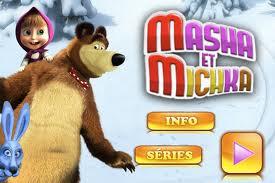 """La série """"Macha et l'Ours"""" peut être connu en France sous le nom """"Masha et Michka"""""""