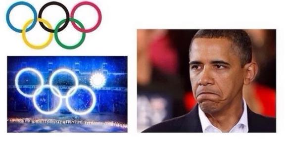 L'anneau rouge symbolise bien l'Amérique.