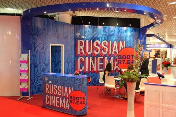 Le stand commun du Cinéma Russe au MIPTV 2014